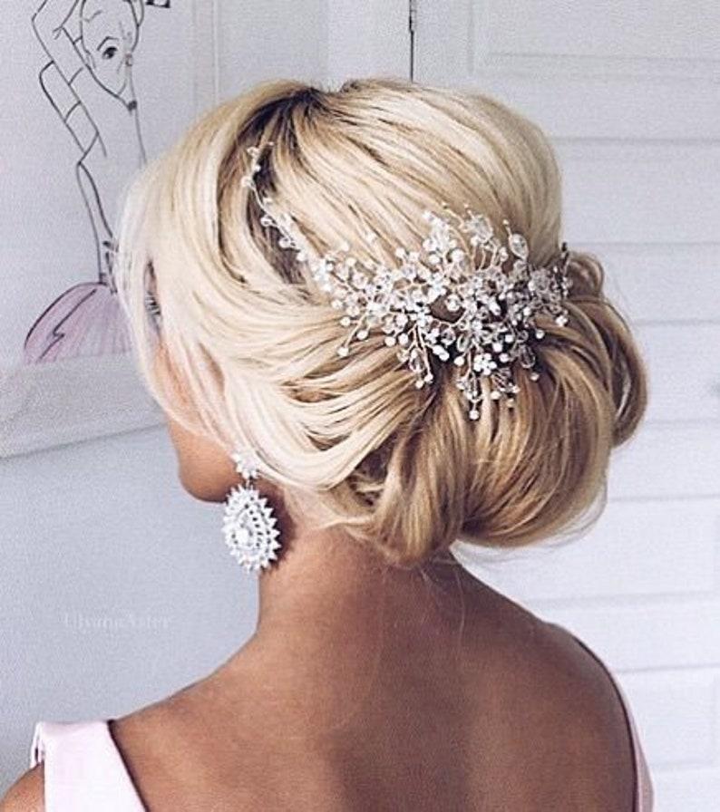 Rose gold bridal hair piece Bridal hair accessories
