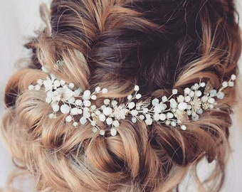 Wedding head piece for bride Bridal hair vine Wedding hair pieces Crystal hair vine Crystal headpiece Wedding hair accessories Crystal halo