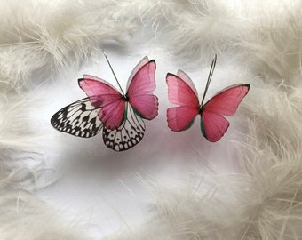 Butterfly Ankle Bracelet for Creative Summer Look Custom Design Magic Anklet with Pink Butterfly /& Monarch Butterfly Wing Anklet Butterfly