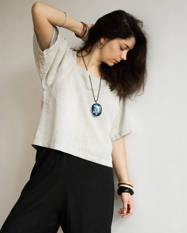 Casual and Loose Linen Blouse  Shirt