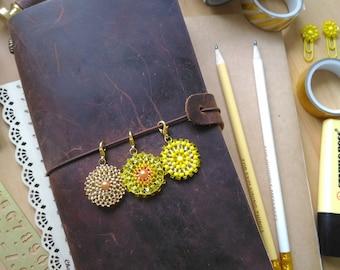 Sunshine planner charm, traveler's notebook charm, midori charm, journal charm, bujo charm, gift for her