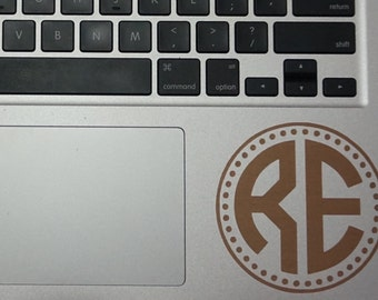 "4"" Monogram Decal Dotted Circle"