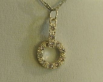 A Nice Faux Diamond Silver Necklace