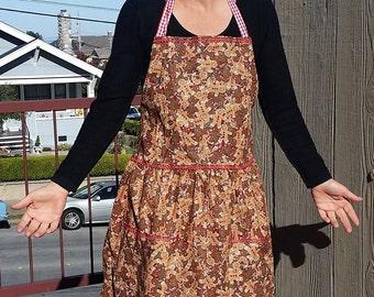 Gingerbread bib apron #2