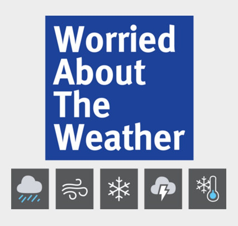 Greensky Bluegrass Worried About The Weather Channel T-Shirt image 0