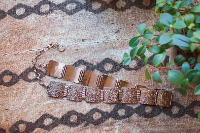 Floral Belt 70s Belt Metal Belt Art Nouveau Brass Belt Vintage Belt Chain Belt Etched Metal
