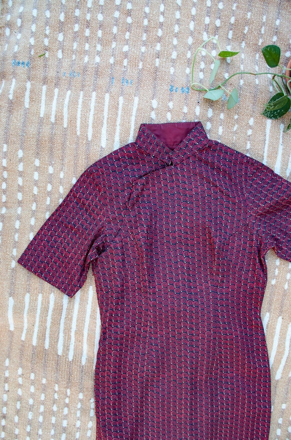 Vintage Dress, Cheongsam Dress, Vintage Cheongsam,