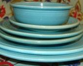 Vintage Homer Laughlin Fiestaware set Original Turquoise color Sold as Lot OR Indivdually