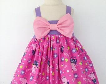 2eb32949406c Peppa Pig Dress | Peppa Pig | Peppa Pig Birthday | Halloween Costume |  Dresses | Party Dress | Character Dress | Birthday Dress | Peppa