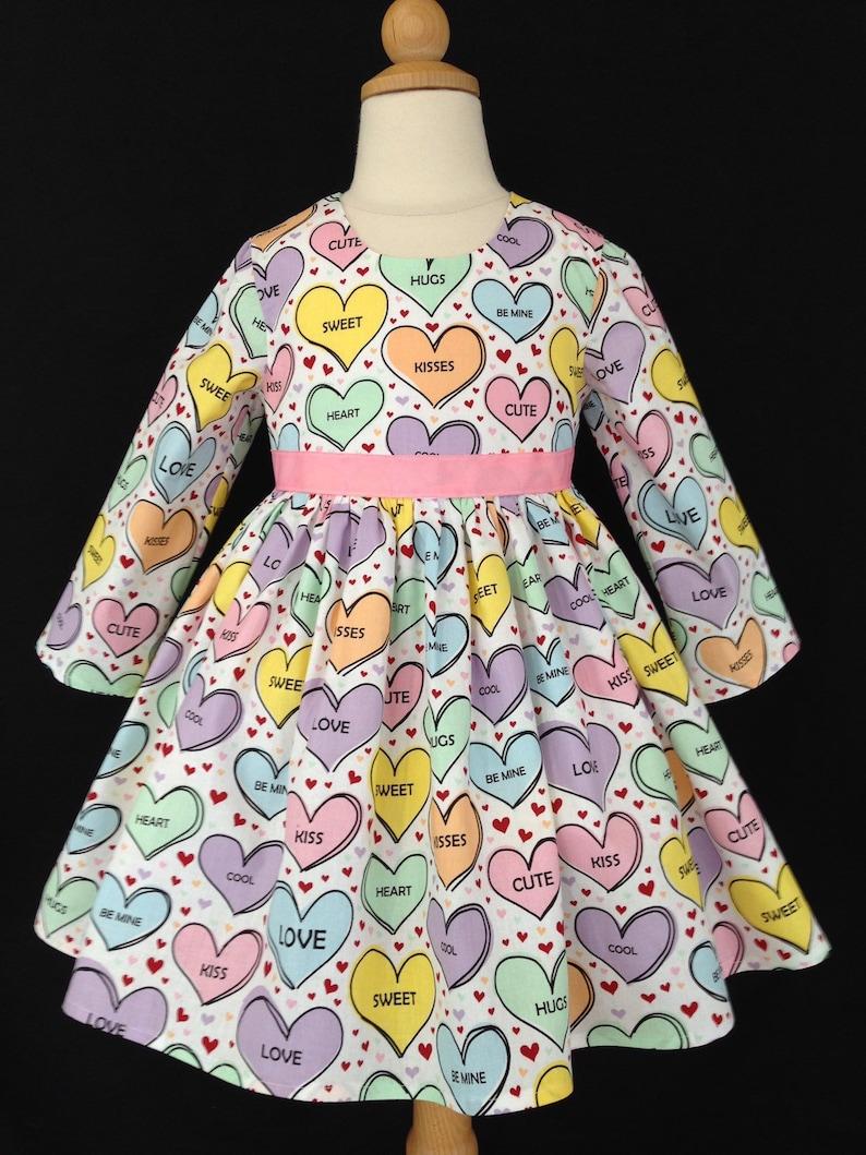 22a9a5b73f3c Valentines Day Dress/ Heart Dress/ Pink Dress/ Girls Dress/ | Etsy