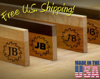 """Branding Iron - 2"""" Round Custom Initials with Saw for Wood or Leather"""