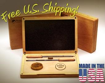NEW!!! Branding Iron Box - Custom Fitted Decorative Box for Beamer's Brands