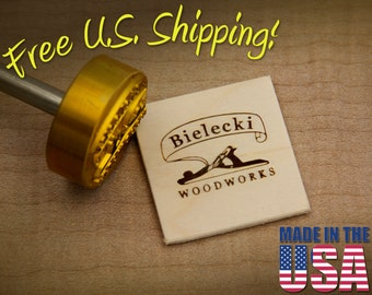 """Branding Iron - 1.5"""" Round Custom Designed for Wood or Leather"""