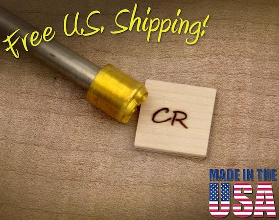 """Branding Iron - 1/2"""" Round Custom Initials for Wood"""