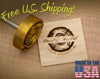 "Branding Iron - 2"" Round Custom Artwork for Wood or Leather"