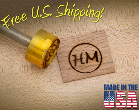bd5d5fdf262 Branding Iron 1 Round Custom Initials with Ring for