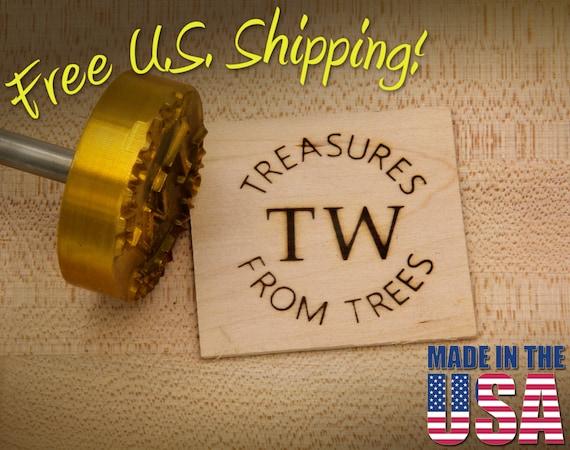 "Branding Iron - 2"" Round Custom Text w/Initials for Wood"
