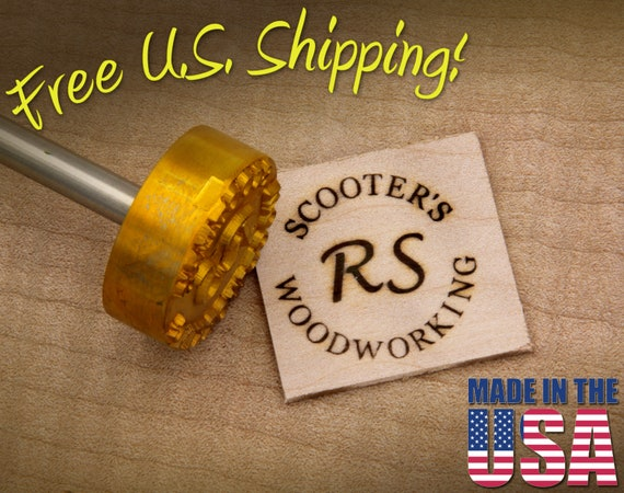 "Branding Iron - 1.5"" Round Custom Text w/Initials for Wood"