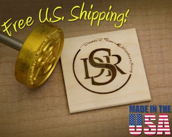 """Branding Iron - 2"""" Round Custom Designed for Wood or Leather"""