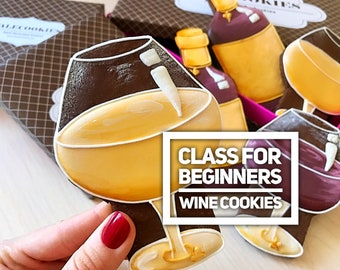 Wine cookies: online video class for beginners by TaleCookies