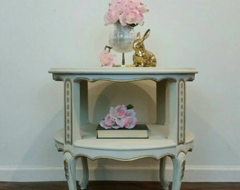 French Provincial  drum table