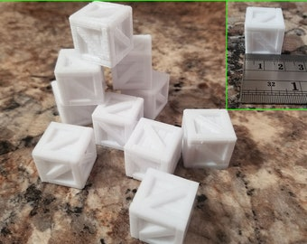 Crates, Scenery for Tabletop RPG, 3D Printed and Paintable