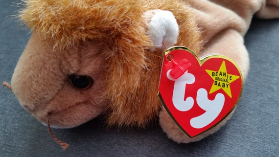d0169ed551f Ty beanie babies ROARY the lion 1996 PVC Mint with mint
