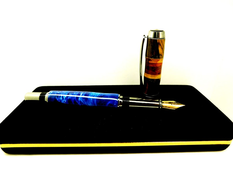 Exotic woods and acrylic Fountian Calligraphy pen