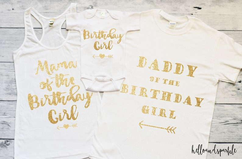 Birthday Shirts Daddy And Mommy Of Girl Mom