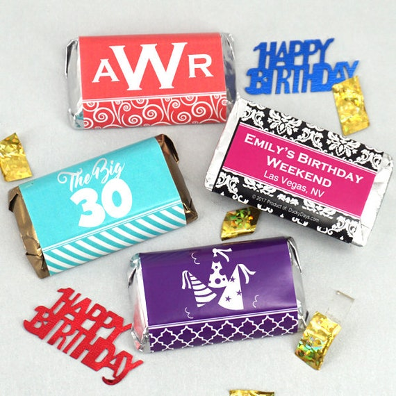 Birthday Favors For Adults Chocolate Personalized