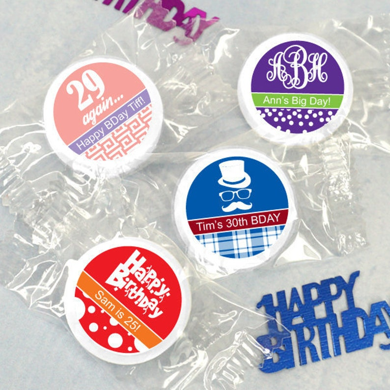 100 Birthday Favors For Adults Mints Personalized Life Savers