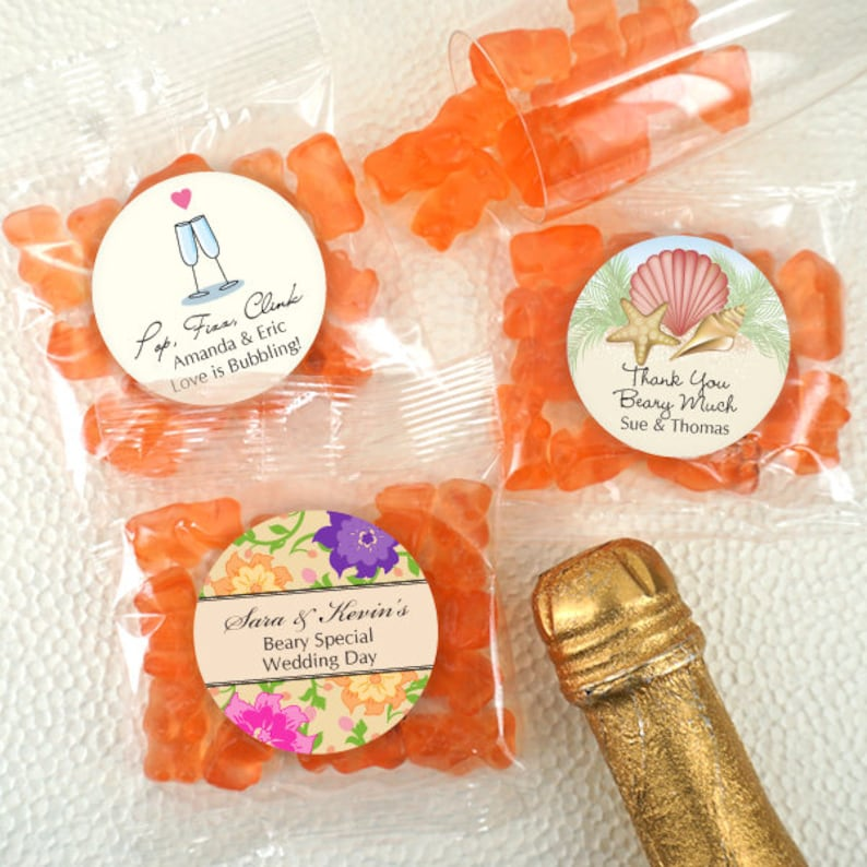 87ab54b9d0de9e Champagne Gummy Bears Wedding Favor Gummy Bears Personalized