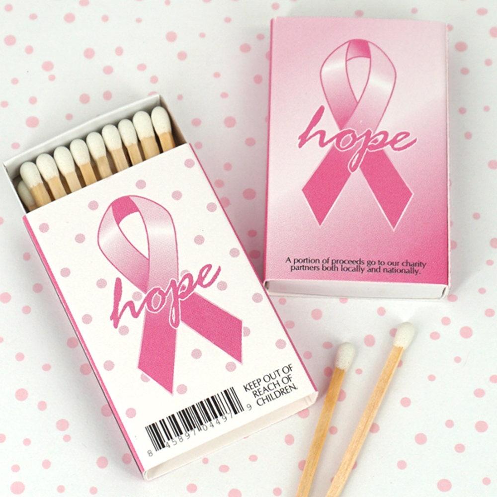 Breast Cancer Awareness Matches Pink Ribbon Matchboxes Set