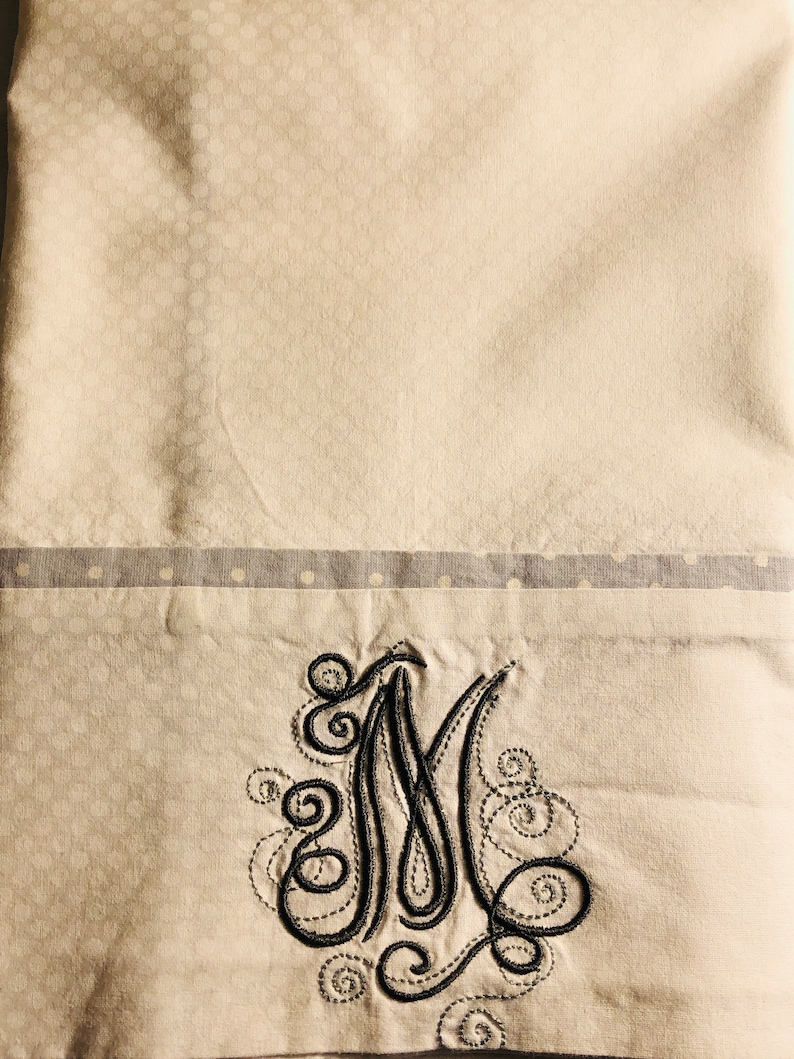 Made to order. with pillow flap to keep your pillow covered Monogrammed pillowcase Set of two