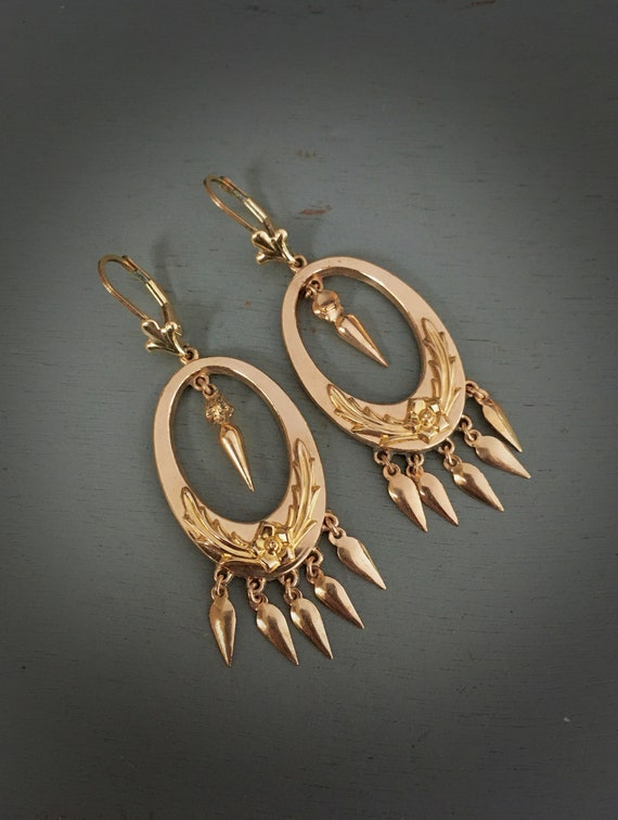 VICTORIAN Chandelier Articulated Earrings / Repous