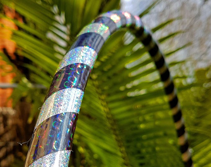 "3/4"" 26"" READY TO SHIP Hula Hoop ""Holo-Peacock"" - Collapsible Polypro"