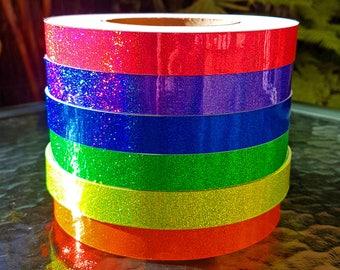 Holographic Hula Hoop Tape - Silver/Orange/Yellow/Green/Blue/Purple/Pink