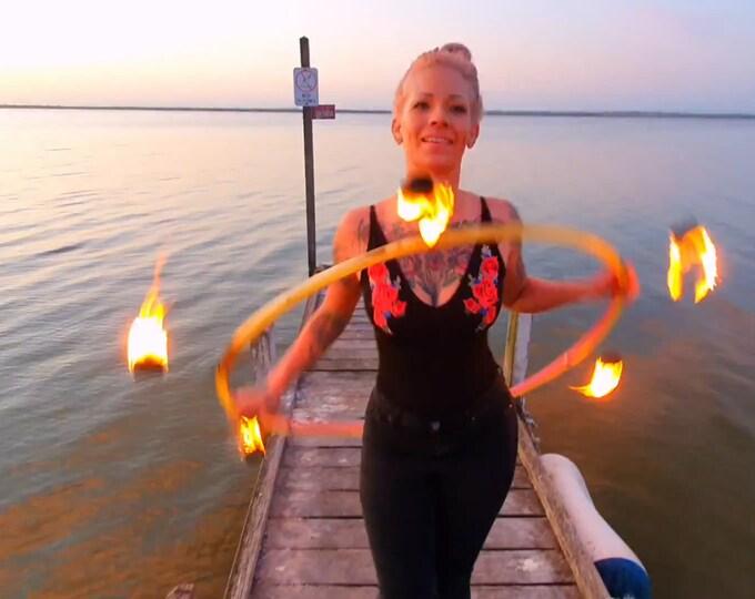 """3/4"""" Fire Hula Hoop"""