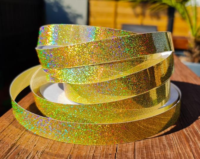 "Hula Hoop Tape - ""Gold HoloGlitter"""