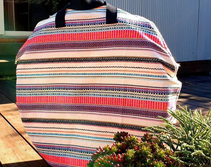 Hula Hoop Bag - Circle Bag For Collapsible Hoops - Aztec White