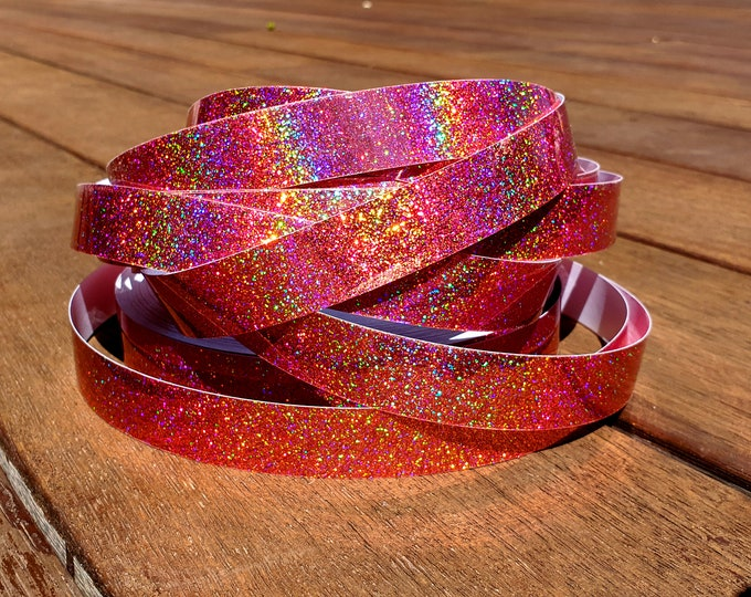 "Hula Hoop Tape - ""Rose Gold HoloGlitter"""