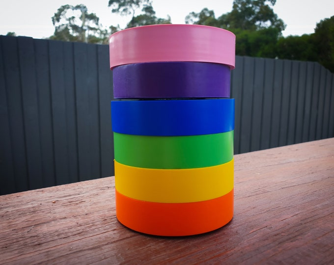 Vinyl Hula Hoop Tape - Pink/Purple/Blue/Green/Yellow/Orange
