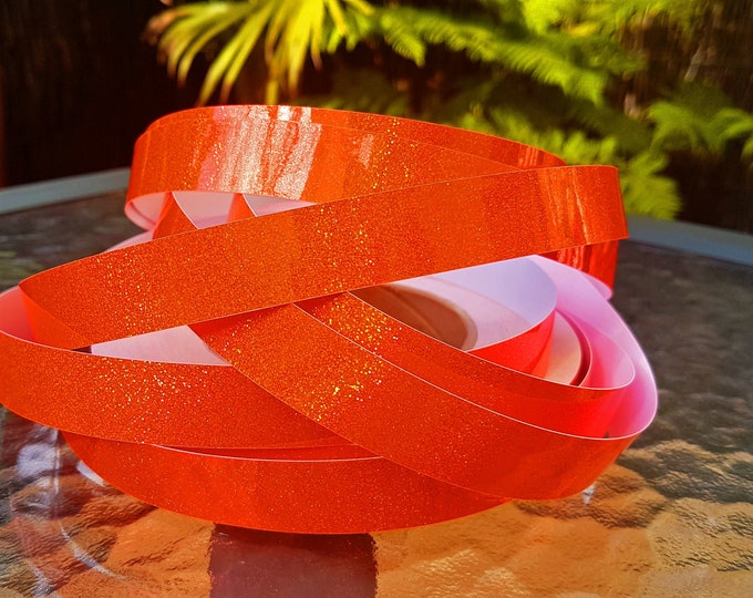"Hula Hoop Tape - ""Orange HoloGlitter"""