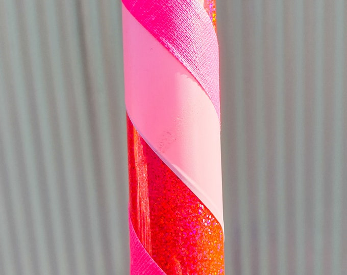 Beginner Hula Hoop - Pink Candy Stripe HDPE