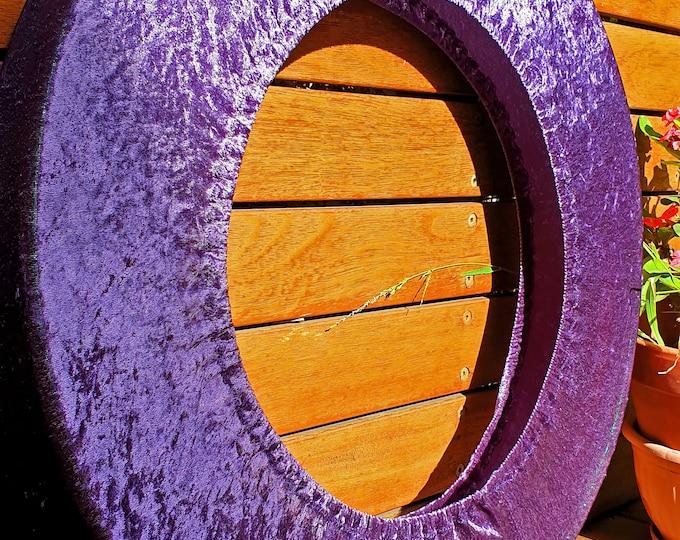 Hoop Huggie - Crushed Velvet Hula Hoop Travel Bag for Mini/Collapsible Hoops