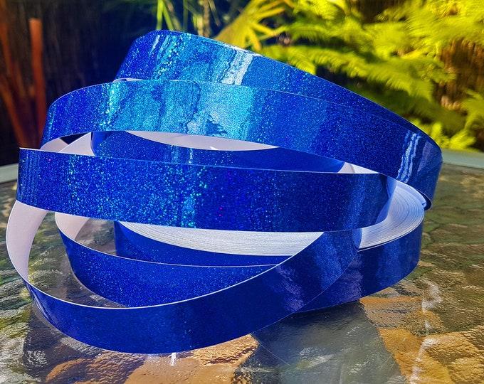 "Hula Hoop Tape - ""Blue HoloGlitter"""