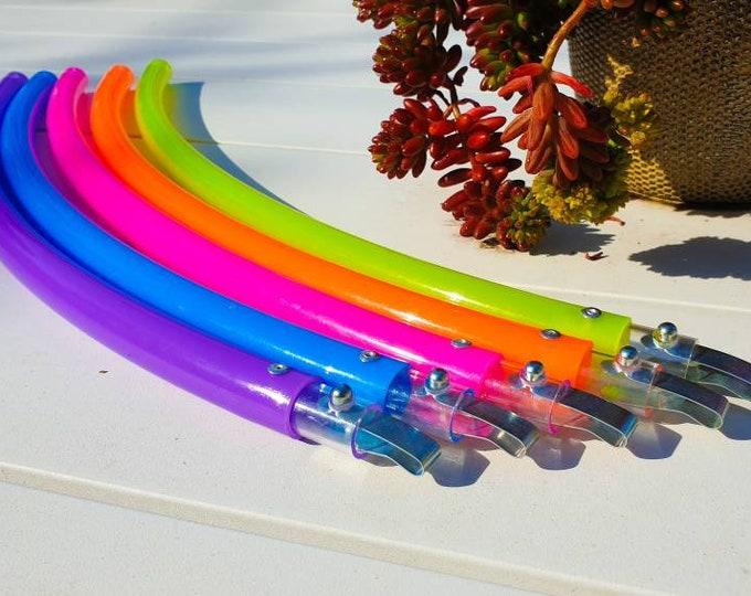 Radioactive Rainbow Polypro Travel Hula Hoop