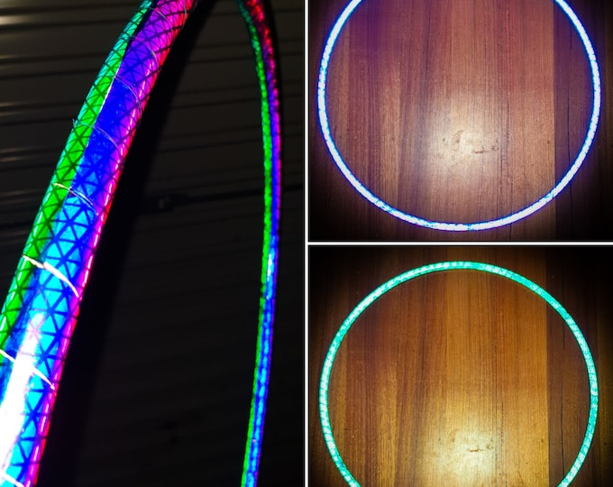 Coin Flip Reflective Hula Hoop - Double Sided Collapsible Polypro or HDPE