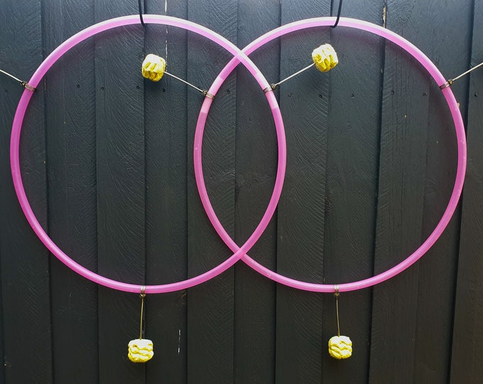 "Fire Hula Hoop Mini Twins - 5/8"" Coloured Polypro Doubles"