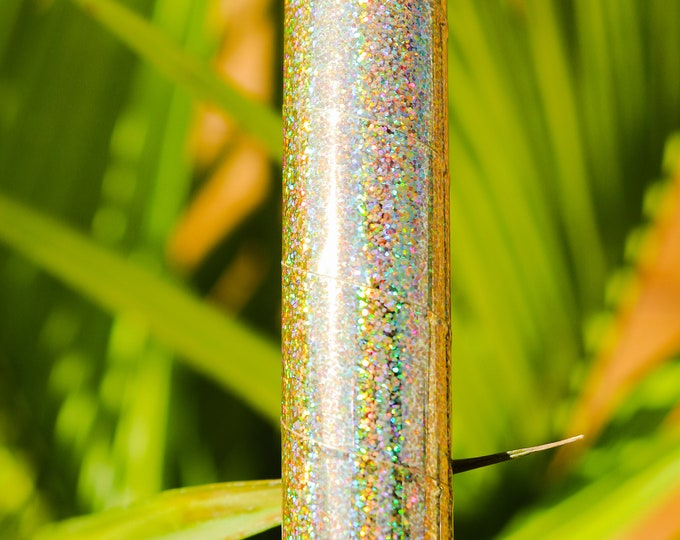 """Hula Hoop """"Gold HoloGlitter"""" - Collapsible Holographic Polypro or HDPE"""